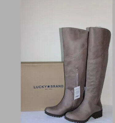 4ce3f2482651 New Womens Lucky Brand LK-Harleen Brindle Rustik Tall Boots Size 6.5 M Wide  Calf