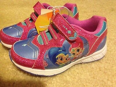 SHIMMER AND SHINE ATHLETIC SHOES Sz 8 NEW! Nickelodeon Sparkly Pink Tennis shoe