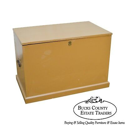 Custom Crafted Dovetailed Carpenters Tool Box Lidded Chest Trunk