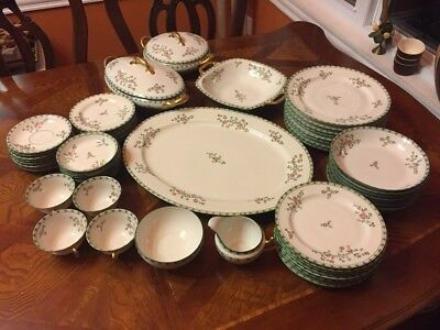Limoges very rare Bowa and Dotter Eight place Seven piece elite works