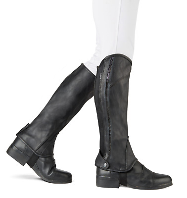 Dublin Adults Stretch Fit Sparkle Half Chaps - Black