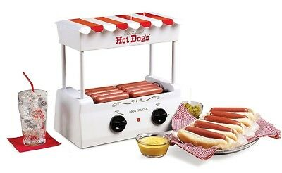 Hot Dog Cooker Roller Steamer Electric Grill Dogs Bun Warmer Vintage  Machine