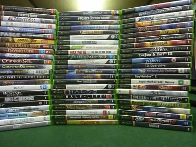 MICROSOFT XBOX ORIGINAL GAMES , selling my collection