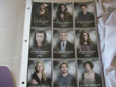 Inkworks complete 72 card set Twilight first movie