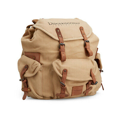 Didgeridoonas The Rucksack /Sturdy and rugged canvas / Tan Colour