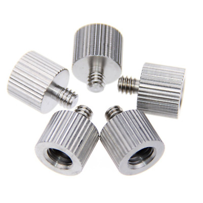 """CAMVATE 3/8"""" Female to 1/4"""" Male Tripod Thread Reducer Adapter Stainless Steel(5"""