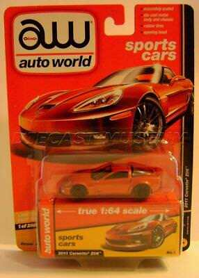 2011 '11 Chevy Corvette Z06 Orange Sports Cars Aw Auto World Diecast 2018