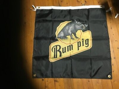 used bundaberg rum large  Man cave flag wall hanging vovelty signage shed