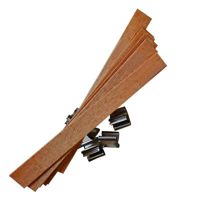 5/10/50Pcs DIY Wooden Wick Candle Core Perfect Sustainers Paraffin Making