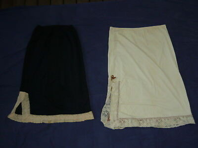 1960s/70s Lace Lingerie Dress Night Skirt x2 vintage Petticoat GLOROWIN LUCAS