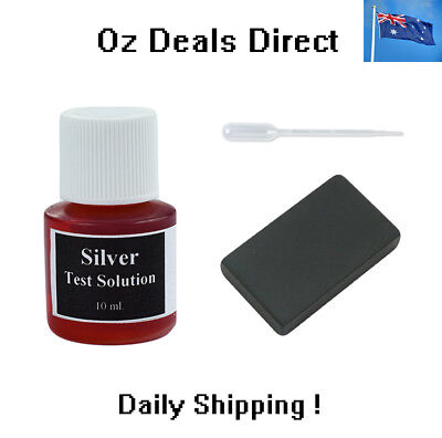 Silver Acid Testing Bottle Liquid Kit & Scratch Stone for Silver and Gold