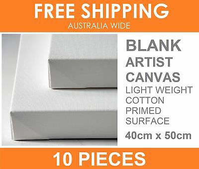 10 x ARTIST STRETCHED BLANK CANVAS 40 x 50cm Oil Acrylic Painting Craft Bulk