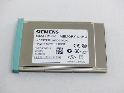 SIEMENS SIMATIC S7 RAM MMC 16 MB 6ES7 952-1AS00-0AA0 E-Stand: 8 (5278)