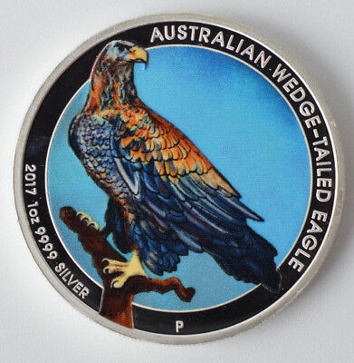 2017 Australian Wedge-Tailed Eagle 1oz .999 Silver Colorized Coin