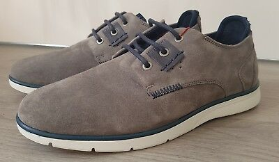 best authentic d5f5a 43060 Mens UK 8 EU 42 navy grey Wrangler WR458 leather suede memory foam lace up shoes  1 ...