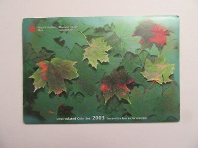 2003 Canada Uncirculated Set, 7 coins, mint package
