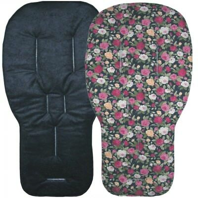 Jillyraff Reversible Seat Liners to fit Bugaboo pushchairs - Navy Designs