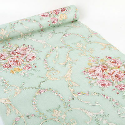 Vintage Floral Wallpaper Self Adhesive Contact Paper Shelf Liner Wall Decor