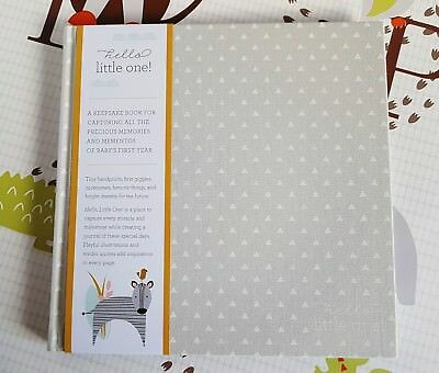Baby Record Book Journal Pregnancy HELLO LITTLE ONE Hardback Cloth Bound Book