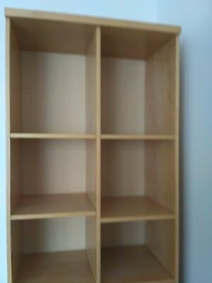 Ikea Birch Bookcase With Frosted Glass Door 2200 Picclick Uk