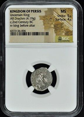 2nd Century BC Kingdom of Persis Drachm NGC MS Ancient