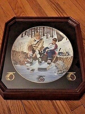 """Vintage Heritage Official NHL Plates by Glen Green """"Family Tradition"""" 75 years"""