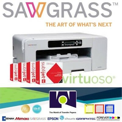 Sawgrass Virtuoso SG800 Printer Set Ink CMYK FREE Design Studio, FREE Shipping