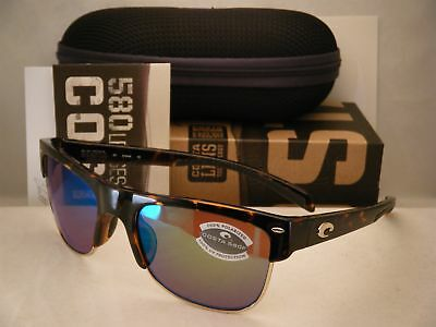 0b8d69c9a1f6b Costa Pawleys Retro Tortoise w Green 580P lens NEW Sunglasses (PW66 OGMP)