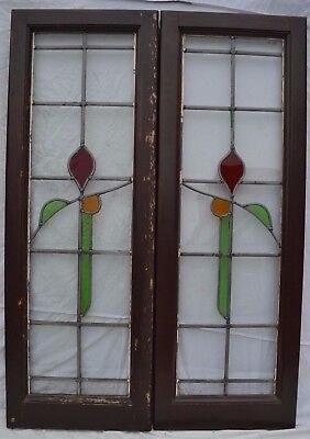 2 stained glass leaded light windows. R633b. DELIVERY OPTIONS & INSURANCE OPTION