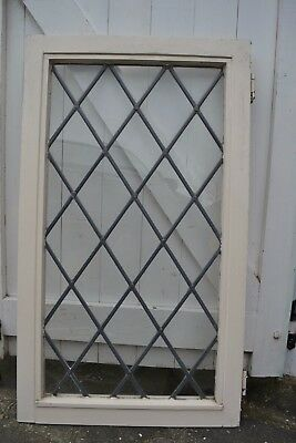 British plain leaded light stained glass window. R503b. WORLDWIDE DELIVERY!!!