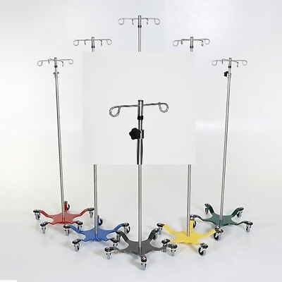 New MCM-272 Chrome IV Pole 5-Leg Spider Base w/2 Hook Top 1 ea