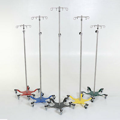 New MCM-273 Chrome IV Pole 5-Leg Spider Base w/4 Hook Top 1 ea