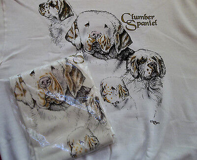 Clumber Spaniel Sweatshirt  & T-shirt Set  Size XL ( 46 ~ 48 )