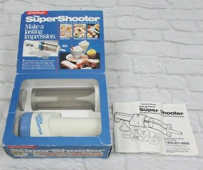 Hamilton Beach Super Shooter 8000 Cordless Cookie Press Food Decorator Manual