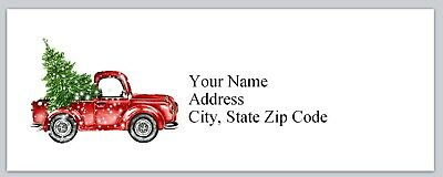 Personalized Address Labels Vintage Truck Christmas Tree Buy3 get1 free(bx 190)