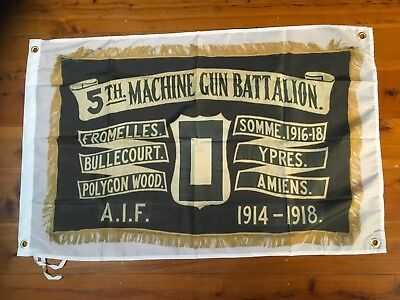 Machine gun 5th army WW1 WW2 gun garage art garage man cave flag pool room bar