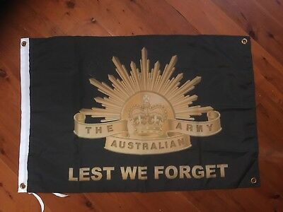 poster australian army RAAF man cave flag wall hanging veterans Lest we forget