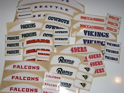 NFL TEAM BUMPER SET Football Helmet Decal - Various Style ONE (1) Bumper Set