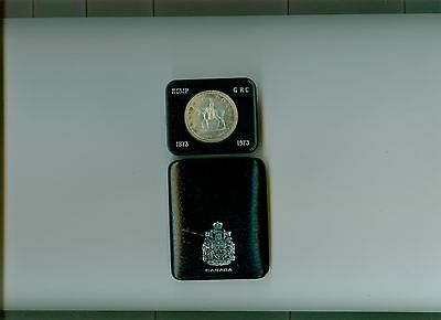 1973  Canada Cased Silver Dollar Rcmp In Case  Of Issue