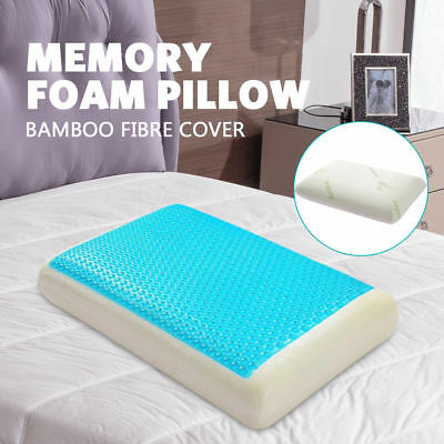 Deluxe Density Memory Foam Pillow With Cooling Gel Top Cover Gel Home Hotel Bed