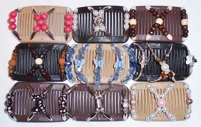 "Double Magic Mini Hair Combs, Angel Wings Clips 3x2.5"", Butterfly, Quality MC5"