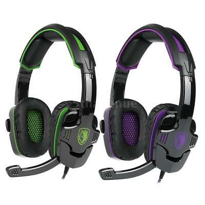 SADES SA930 Stereo PC Gaming Headset Noise Cancellation MIC fr PS4 Xbox One N1R3