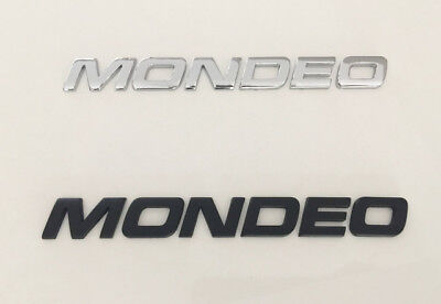 MONDEO 3D Black/chrome  Emblem Badge Letter Number truck Car Hood Trunk