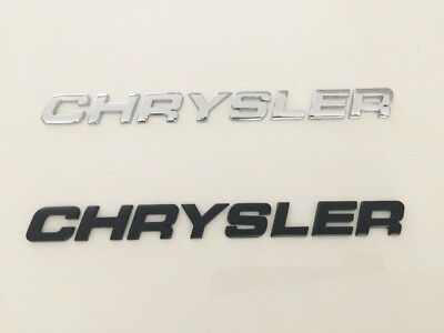 CHRYSLER 3D Black/chrome  Emblem Badge Letter Number truck Car Hood Trunk
