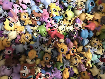 Random pick 15pcs Original Littlest pet shop LPS Mini Figure Animal Doll Toys