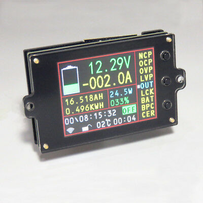 Wireless Battery Monitor DC 120V 100A VOLTAGE AMP AH SOC Power Capacity Tester