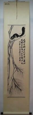 """RARE Chinese 100% Hand Scroll & Painting """"Mouse"""" By Qi baishi 齐白石 WEDDCQAZ"""