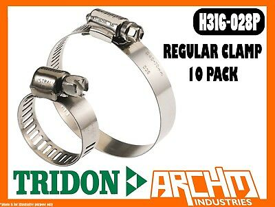 REGULAR CLAMP HOSE 10 PACK 14MM-27MM PERFORATED ALL STAINLESS TRIDON HAS010P