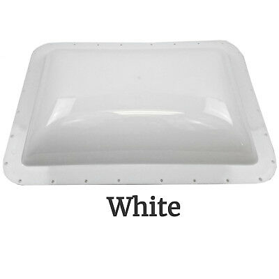 RV Exterior Skylight Dome 26 x 18in OD Roof Flange Vent Trailer Camper Motorhome
