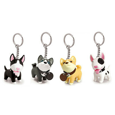 Cute adorable dog puppy husky dog key ring Key Chain toy figurine with collar  R